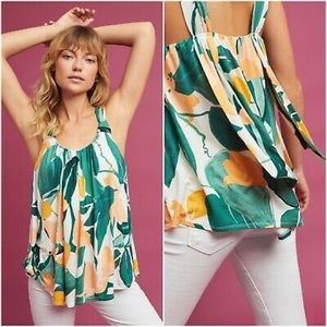 ANTHRO✨Vanessa Virginia Floral Knotted Tank sz XS